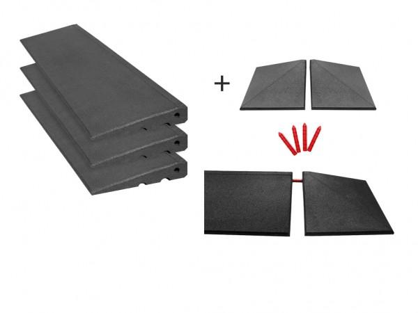 Bordsteinrampen Set mit Ecken 3,5m breit 45mm hoch