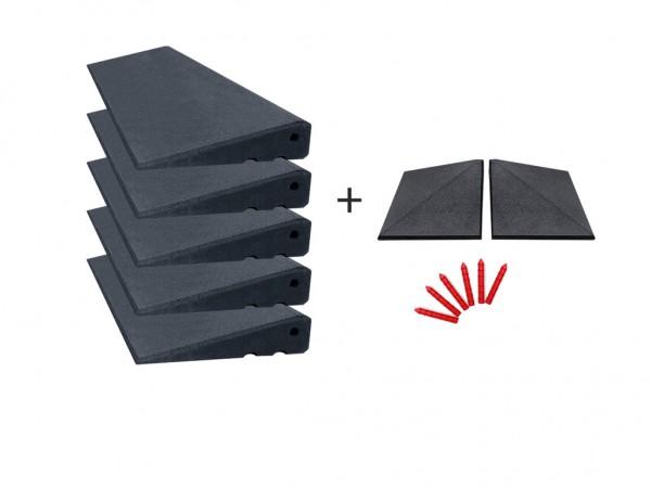 Bordsteinrampen Set mit Ecken 5,56m breit 65mm hoch