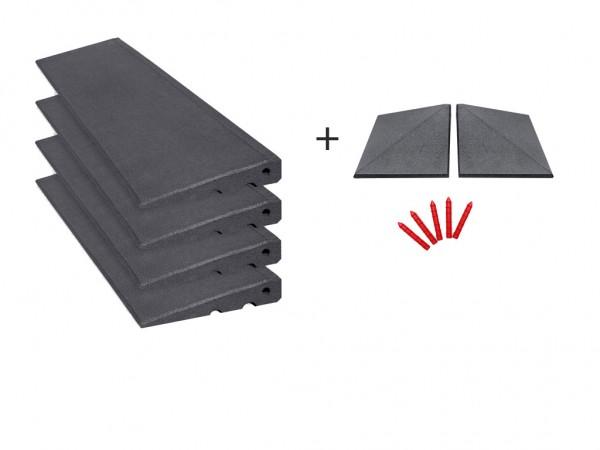 Bordsteinrampen Set mit Ecken 4,5m breit 45mm hoch