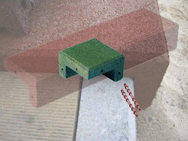 Winkelabdeckung Ecken aus Gummigranulat